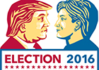 Image of Trump and Clinton for the US election 2016