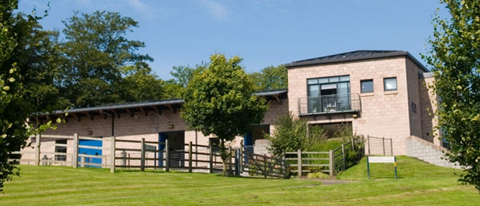 The outside of the Weipers Equine Hospital