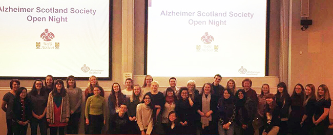 Image of students at the Dementia Society open event