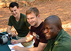 Muller and some of his fellow students on a BIOL5272 field exercise in Boswana