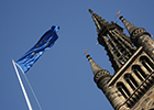 Image of the EU flag and University Tower