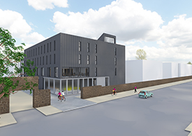 Image of the planned modular building for Maths and Stats