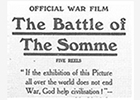 Image of a Battle of the Somme film advert