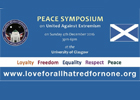 Image of the logo for the 2016 November peace symposium