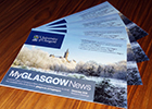 Image of paper editions of MyGlasgow News