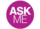 Image of the Ask Me campaign branding