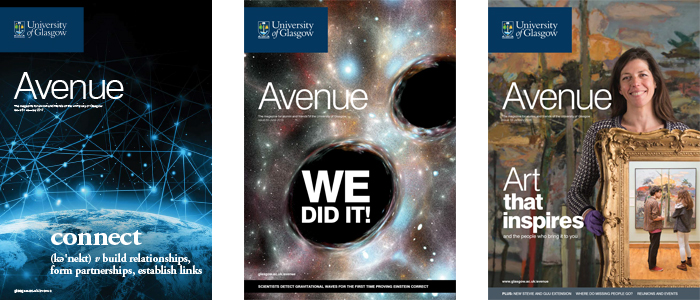 Recent issues of Avenue magazine