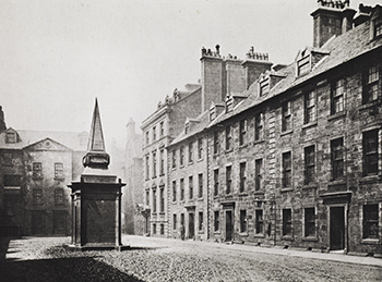 Professors' Court in the 'Old College', photographed in the 1860s.