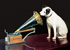 Image of the old His Master's Voice logo