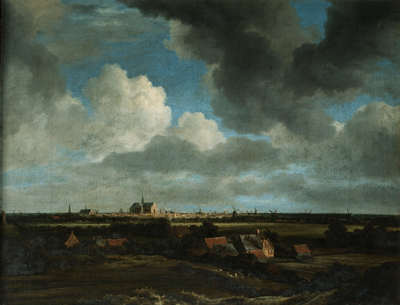 Jacob van Ruisdael, Distant view of Haarlem, c.1660.