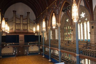 The Bute Hall.