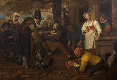 Jan Steen, A Cockfight.