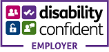 Disability Confident Employer. If clicked it will take you to a page with more details about the scheme.