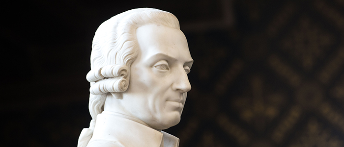 An image of the University's sculpture of Adam Smith