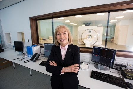 Professor Dame Anna Dominiczak at the Imaging Centre of Excellence (ICE)