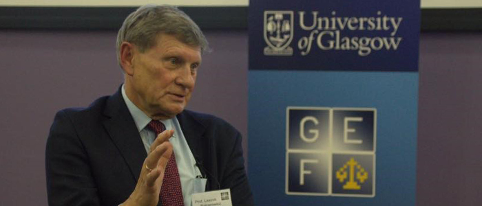 Leszek Balcerowicz, Professor of Economics at Warsaw School of Economics and Former Finance Minister for Poland, delivering this year's Keynote Speech