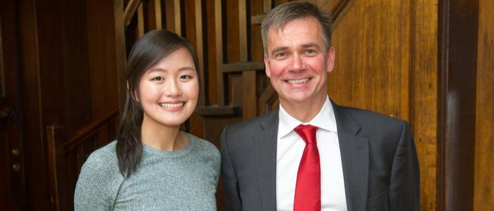 Michelle Chua (BDS4) with Dr David Cross (Elective Mentor)