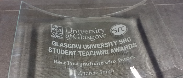 STA award Andy Smith's glass trophy