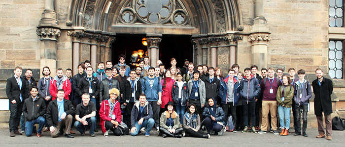 Image of delegates at the 2017 CERN Spring Campus at the University of Glasgow