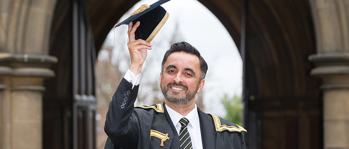 Aamer Anwar (MA 1994), became the University's new rector