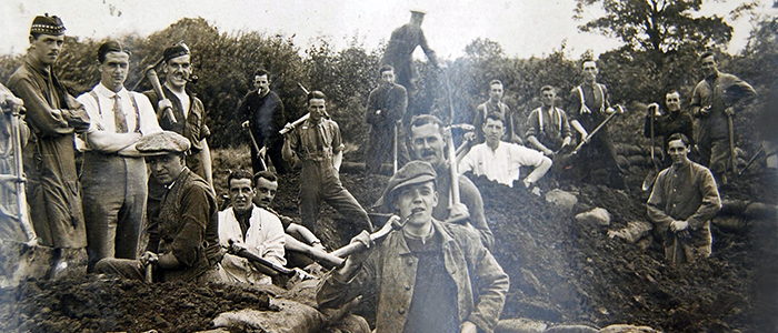 Image of men in training trench