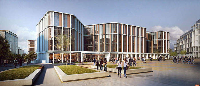 artist's impression of new Research Hub: Impression courtesy HOK Architects