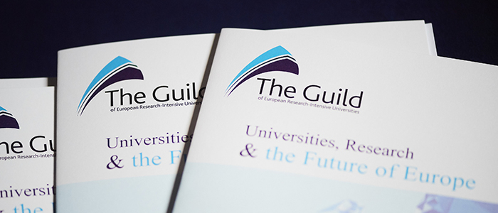Image of branding at the Guild Forum in May 2017