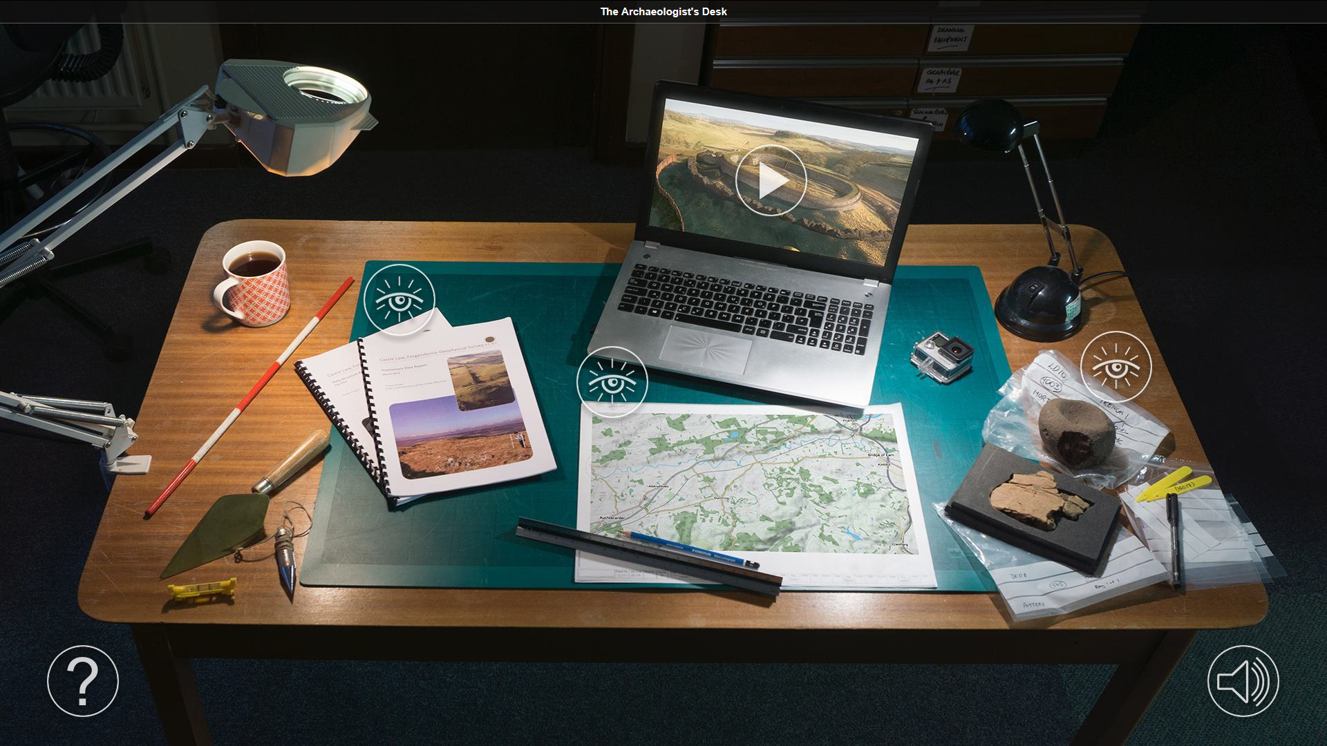 The Archaeologist's Desk: screengrab of SERF digital online resource
