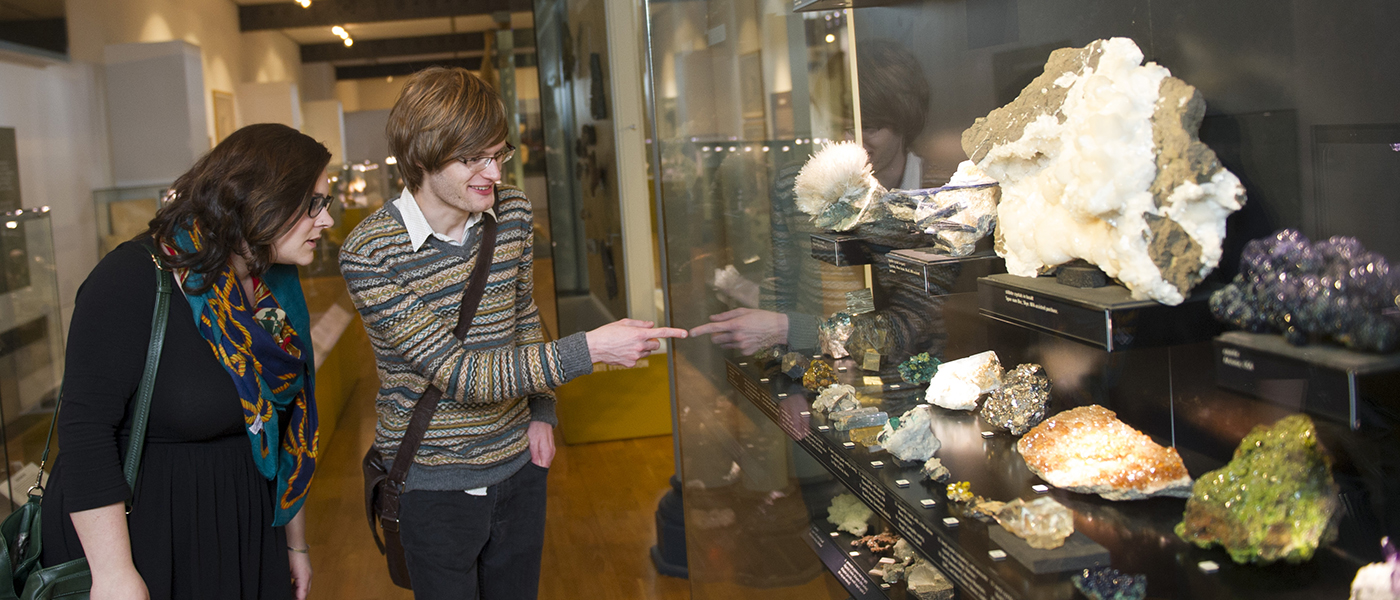 Students in the Hunterian Museum