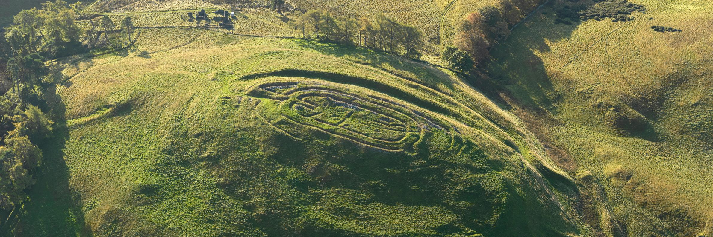 Iron Age hillfort aerial photograph