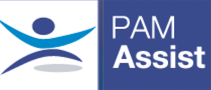 Logo for PAM Assist, the University of Glasgow's Employee Assistance Provider