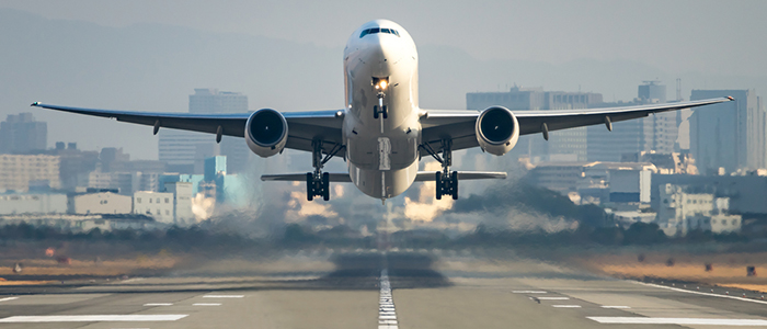 Image of an airliner taking off
