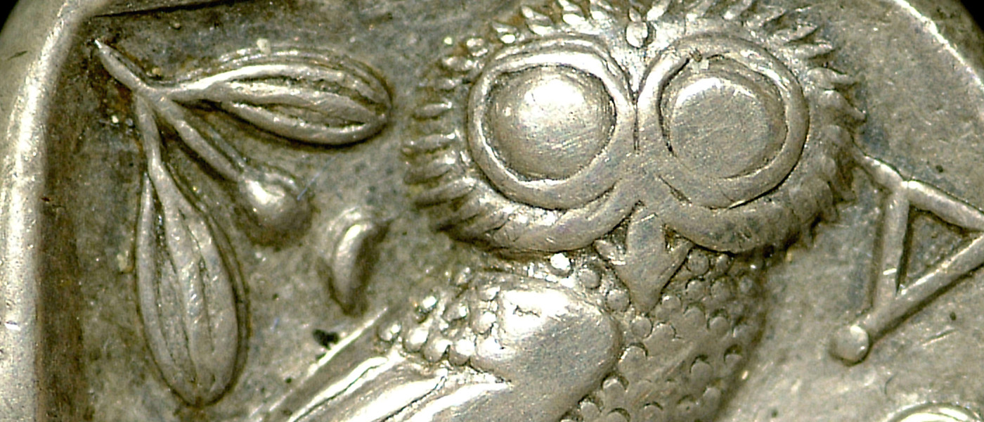 Ancient Greek silver tetradrachm of Athens