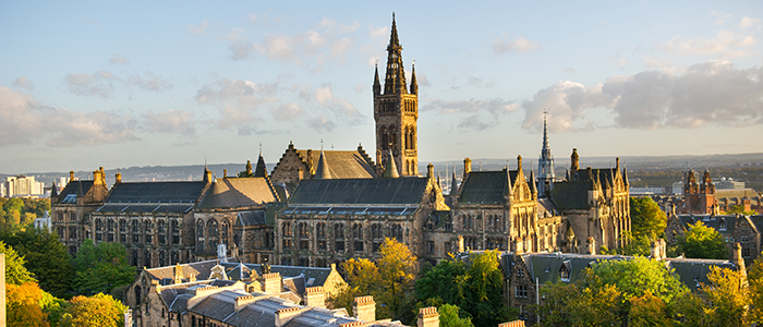 Image of the Main Building at the University of Glasgow's Gilmorehill Campus