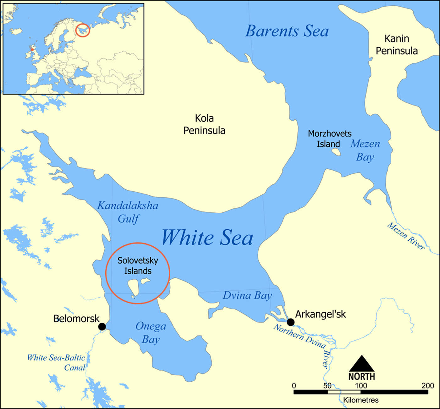 White Sea Map