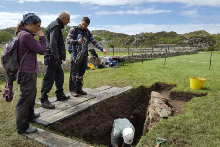 Archaelogical dig on Iona