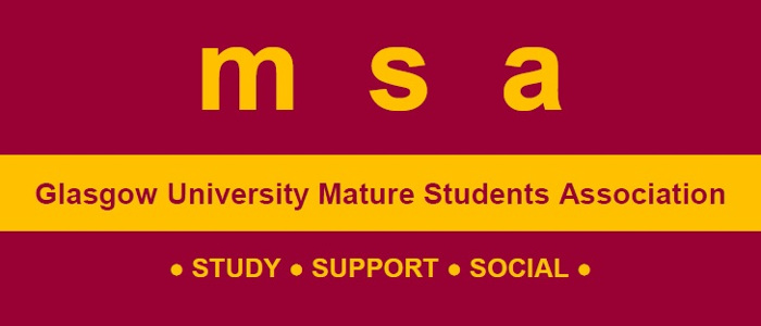 Mature Students Association logo: STUDY | SUPPORT | SOCIAL