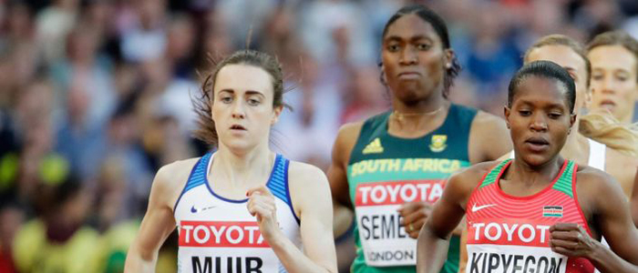Image of Laura Muir competing in the 1500 metres, courtesy Scottish Athletics
