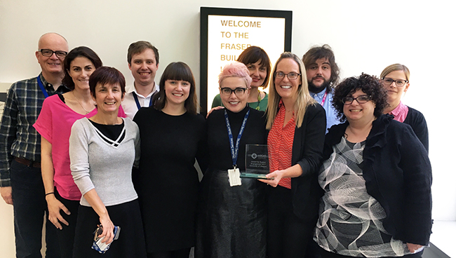 Image of the Careers Service award winning team