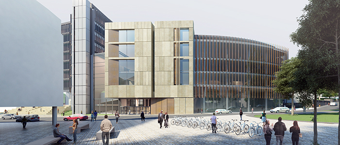 Artists impression of the UofG Learning and Teaching Hub