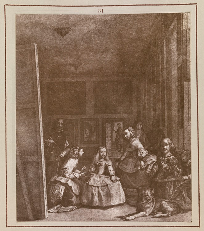 Image of Las Menians by Velázquez, demonstrating the digital restoration process