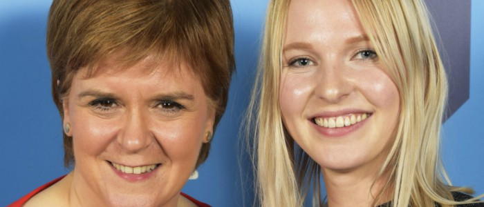 Nicola Sturgeon and Corien Staels at awards ceremony