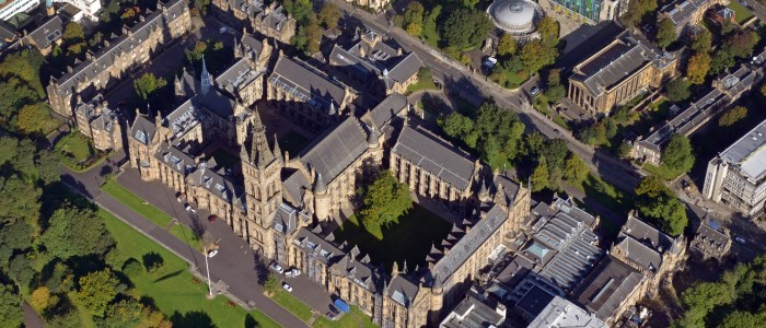 Image of an aerial view of the University tower