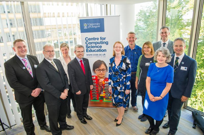 Key speakers and attendees at the launch of the Centre for Computing Science Education