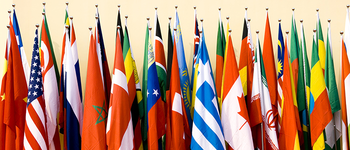 Image of the flags of many nations