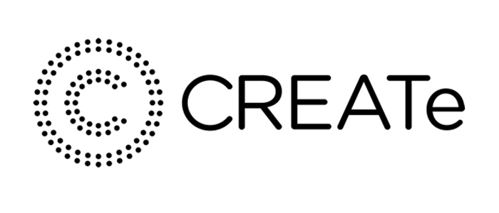 Branding/logo for CREATe, the RCUK Centre for Copyright and New Business Models in the Creative Economy, based at the University of Glasgow.