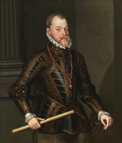 Portrait of Philip II, King of Spain, Alonso Sánchez Coello (1531/32-1588), oil on canvas
