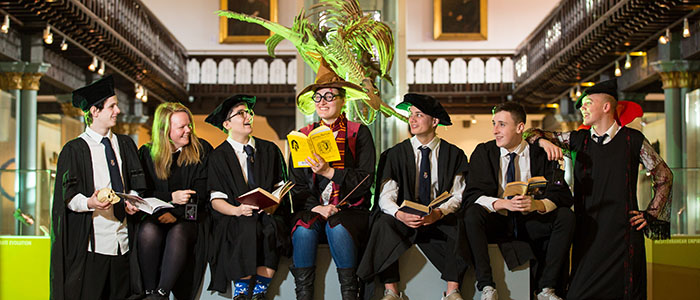 Hillhead High School pupils visit The Hunterian to get a sneak preview of Fantasy Night at the Museum (700 x 300)
