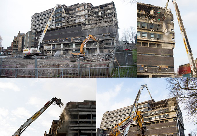 Images of the start of demolition on the former Western Infirmary site