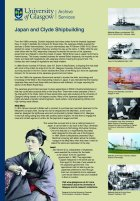The University of Glasgow and Japan: Shipbuilding poster.
